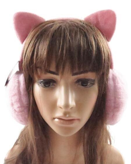 Solid Colored Kitten Eared Faux Fur Ear Muffs