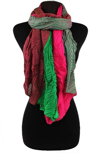 Pashmina Feel Wrinkle Scarf