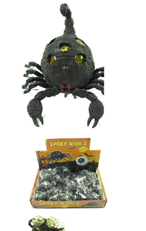 Black Scorpio Mini Good Ball Filled Squish Toy