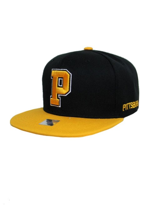 Pittsburgh Initial Sport Color Themed Fashion Snap Back