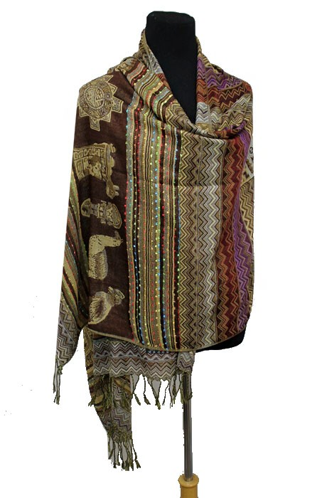 Aztec & Tribal Patterned Soft Pashmina Scarf