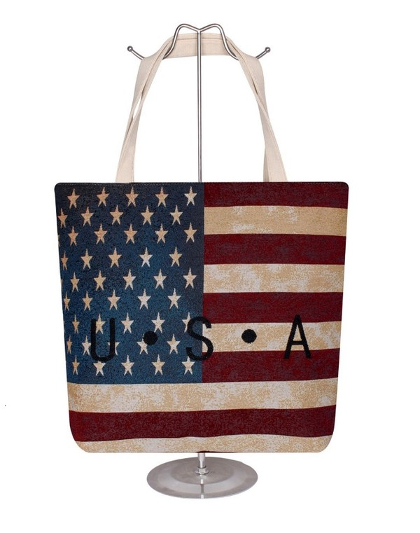 Vintage Dyed U.S.A Lettering Fashion Tote Cap