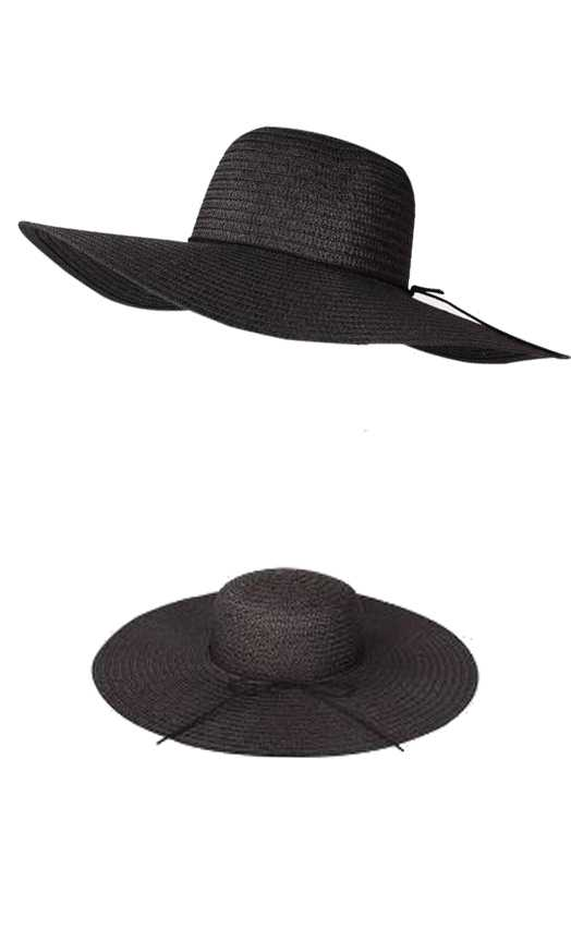Suede Fashion Trim Floppy Sunhat