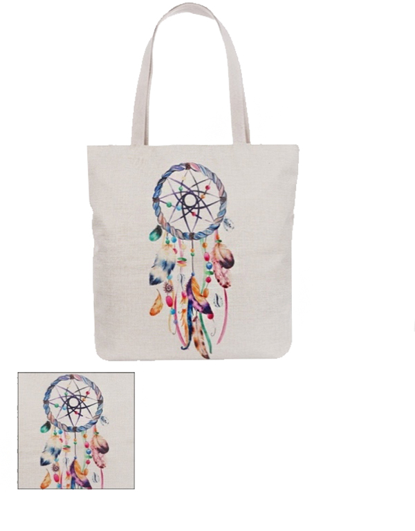 Navajo Feather Collection Canvas Tote Bags