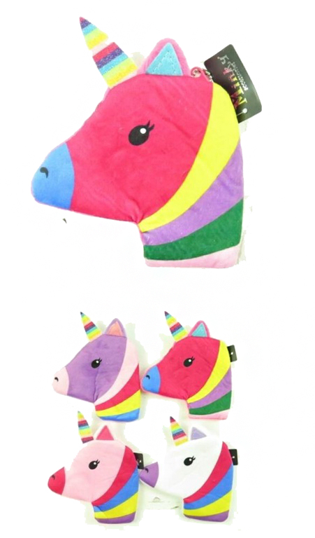 Funky Unicorn Plush Mini Coin Bag