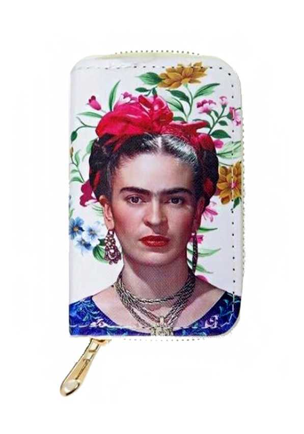 Frida Khalo Floral Novelty Collection Zip Up Wallets