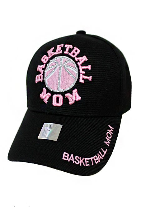 Basketball Mom Embroidered With Minimal Stone Design Baseball Cap