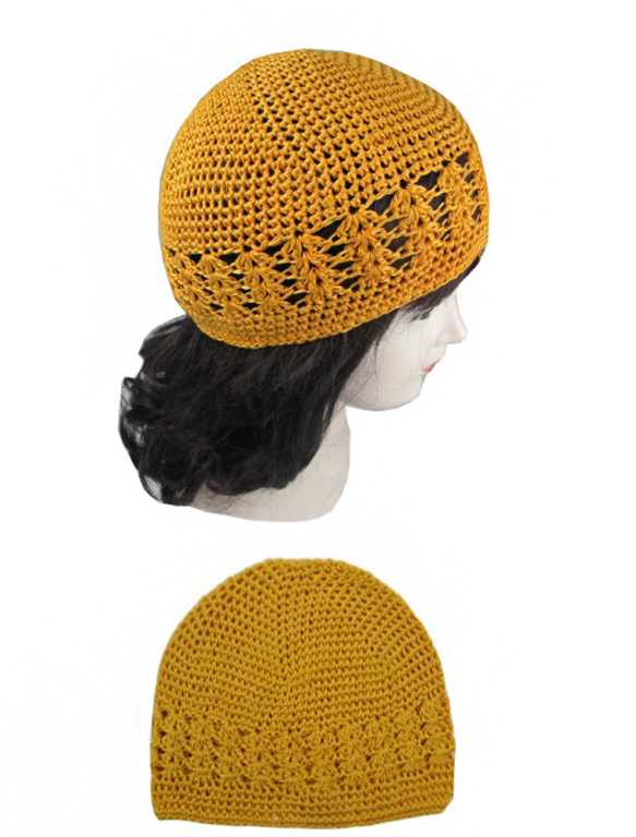 Basic Color Crochet Knit Goofy Hat
