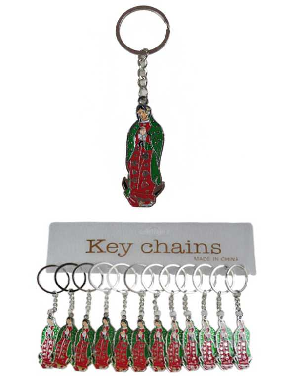 Virgin De Guadalupe Novelty Silver Tone Key Chain