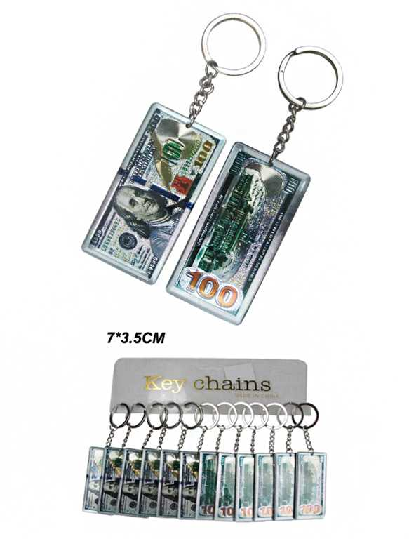 100 dollar Engraved Mini Novelty Key Chain