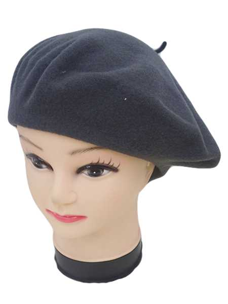 Solid Wool Beret Hat