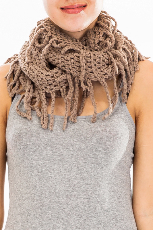 Braided Crochet Softness Infinity Scarves
