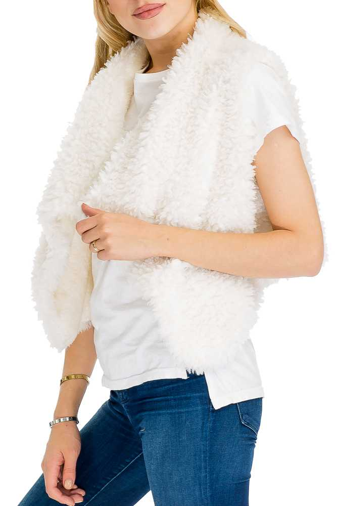 Extra Fluffy Thick Faux Fur Short-Length Vest