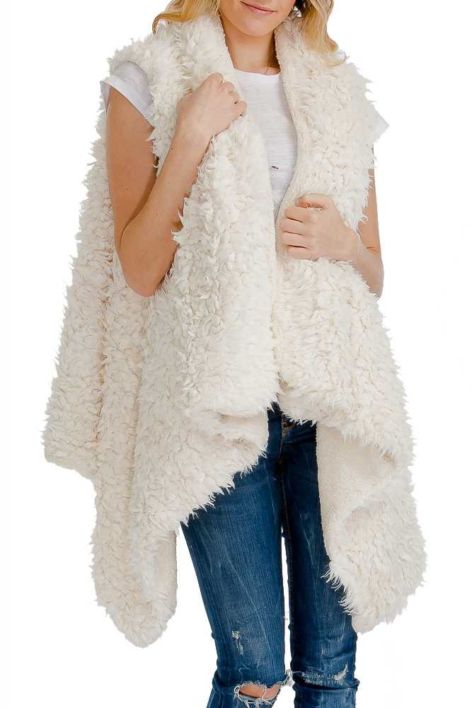 Extra Soft & Warm Luna Faux Furred Long & Thick Slouchy Vest