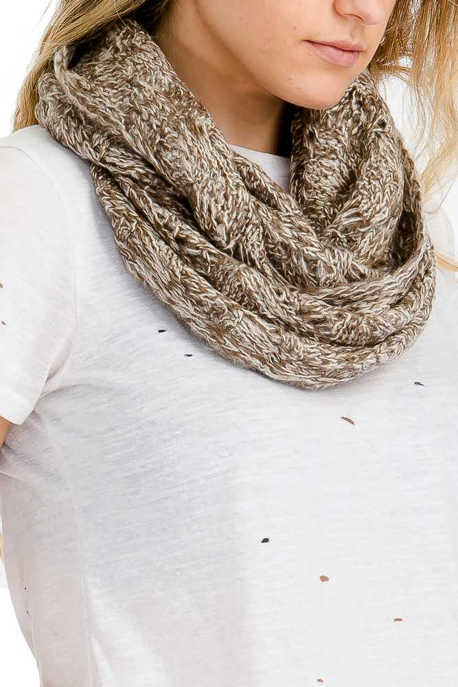 Diamond Pattern Knit Soft Infinity Scarves