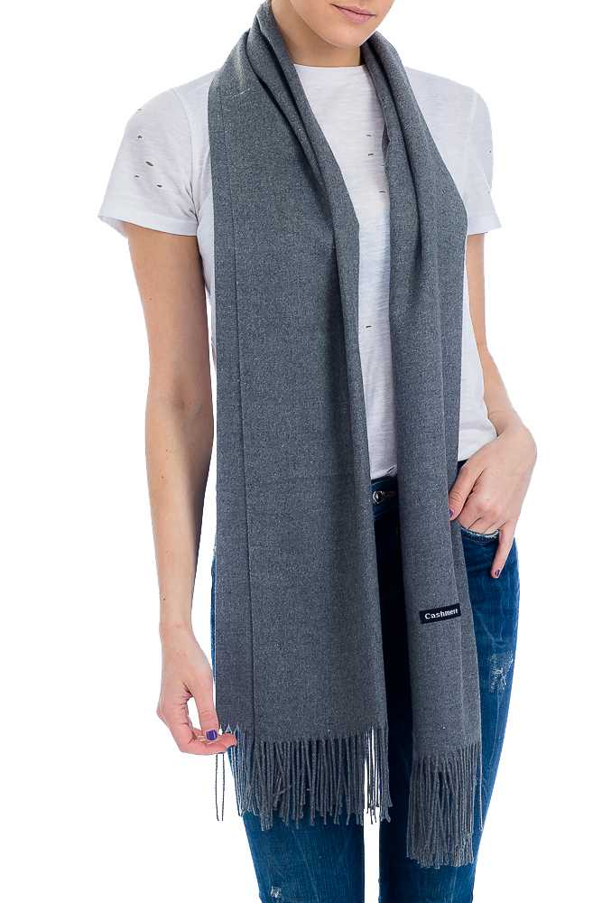 Extra Soft & Brushed Cashmere Blend Over-sized Shawl Scarf with Fringes