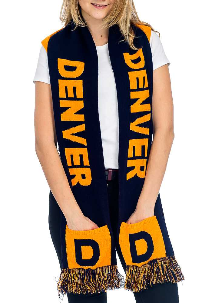 """DENVER"" Double Layered & Thick Knit UNISEX Hooded and Fringed Winter Scarf with Pockets"