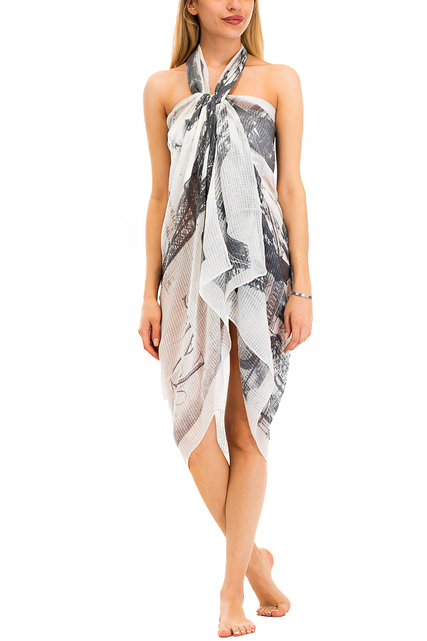Paris and Eiffel Top Design Printed Oversize Shawls Scarf
