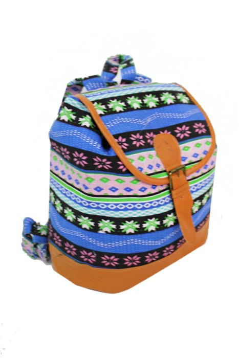 Mini Boho Printed Canvas Backpack