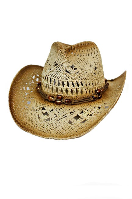 Lightly Beaded Boho Western Style Cowboy