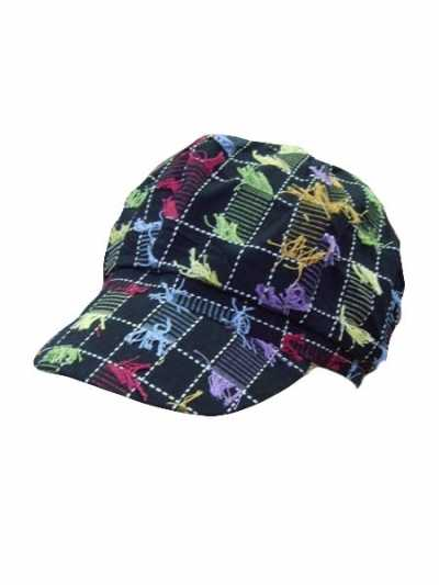 Checkered news boy cap