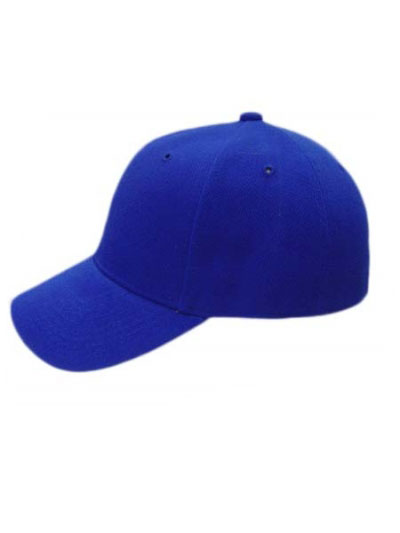 Solid Baseball fitted cap curve visor
