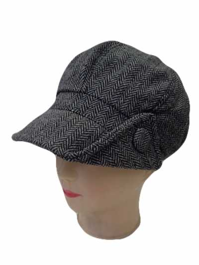 New Winter Newsboy Cap with Button on the Side