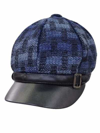 New Design Newsboy Cap Lathered Visor