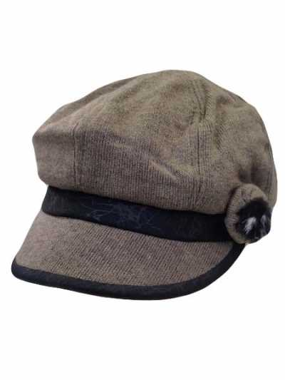 New Design Newsboy Cap With Feather Accent