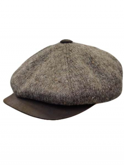 Wool And Leather Ivy Cap