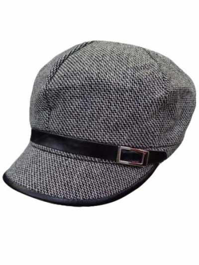 Buckle Newsboy Hat