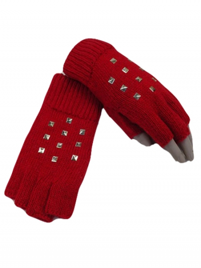 Studs Fashion Gloves Fingerless