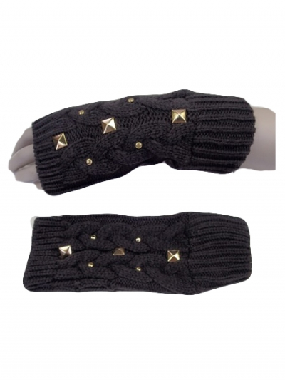 Studs Cable Knit Hand Warmer