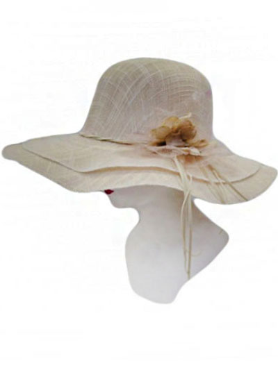 Double Layer Linen fabric Sun hat
