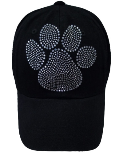 Clear stones Paw Print
