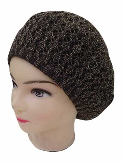 Shiny Knit Beret