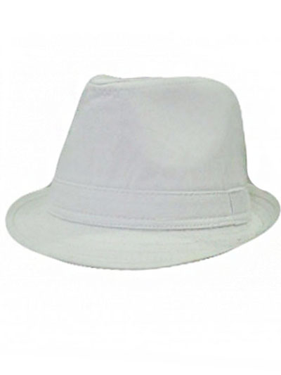 Solid Cotton Kid and Junior fedora
