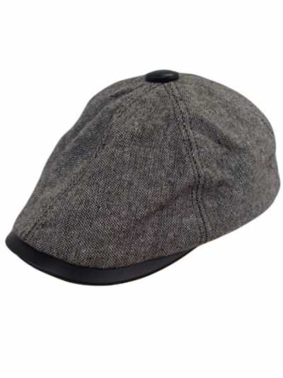 Ivy Wool and Leather Visor accent
