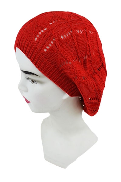 Fine Detailed Breezy Light Knit Beret