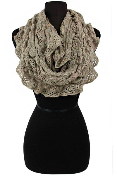 Bubbly Design Knitted Softness Infinity Scarf