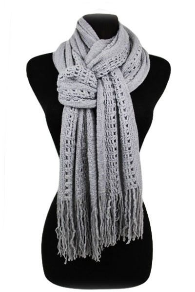 Net Design Accent Knitted Super Softness Magic Scarf
