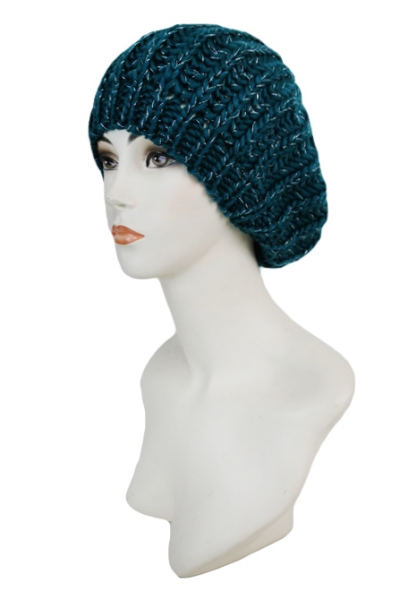 Color Twinkled Knitted Modern Beret