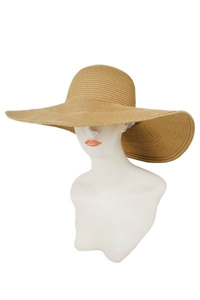 Natural Floppy Basic Colors Women Beach Sun Hat