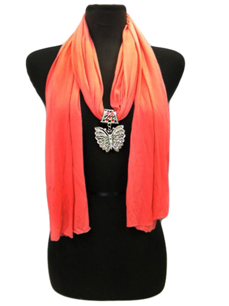 butterfly charm scarves