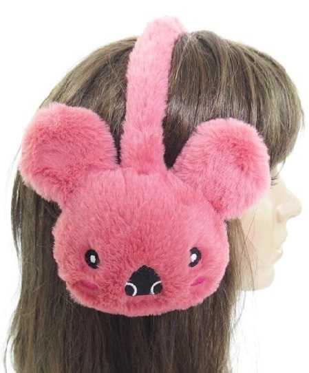 Plush Koala Designed Faux Fur Ear Muffs