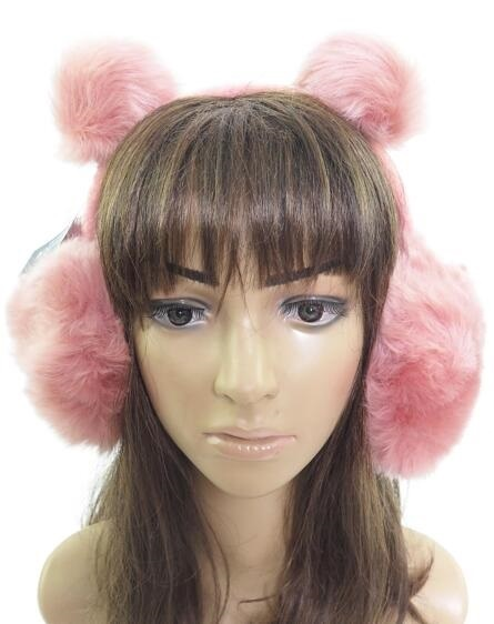 Solid Colored Bear Eared Faux Fur Ear Muffs
