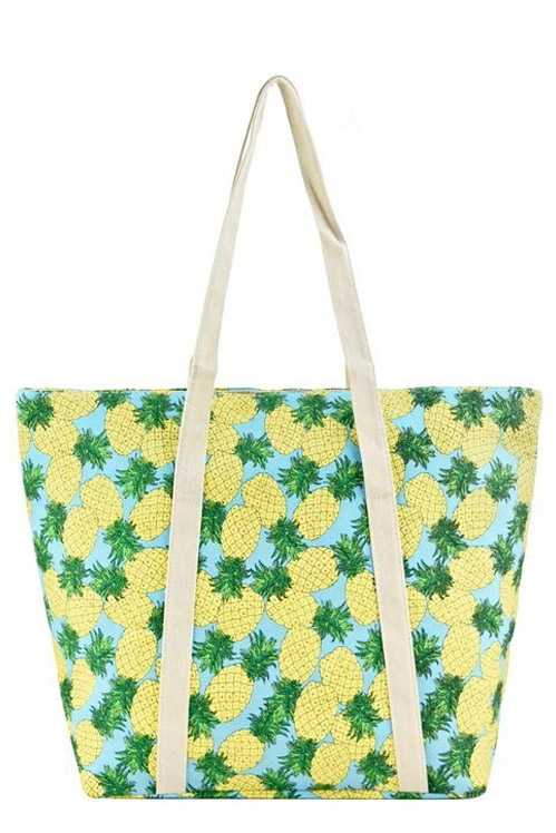 Fruits,Geometric Patterns, Paris Fashion , Flamingo Multiple Printed Canvas Tote Bags