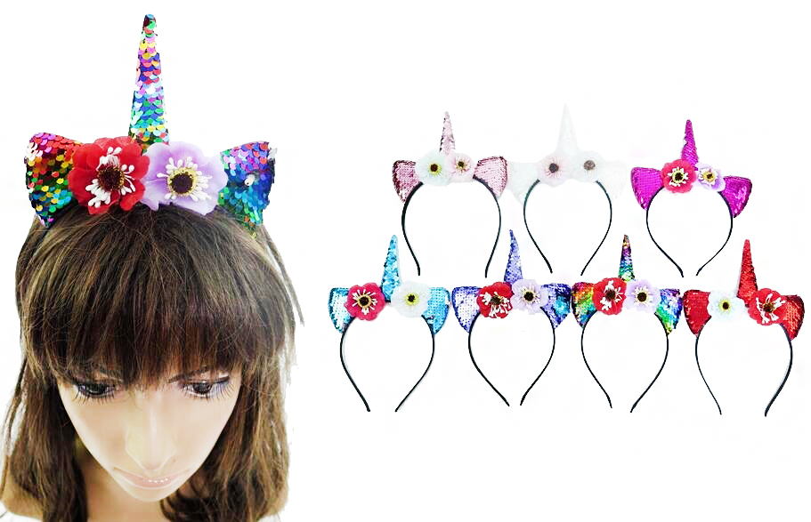 Sequins Ears, Faux Peonies, and Unicorn Horned Hair Bands
