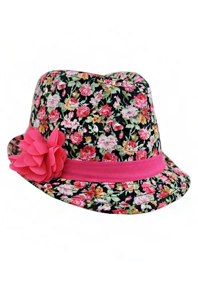 Floral with Bow Kid and Junior fedora