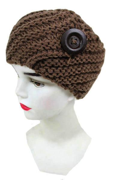 Crochet with Big Button design Head Band